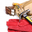 Carpenter tool-belt — Stock Photo