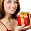 Happy girl with gift box — Stock Photo #5084669