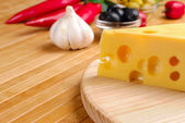 Cheese and vegetables — Stock Photo