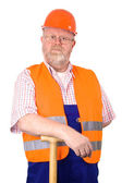 Construction worker with hardhat — Stock Photo
