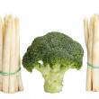 Stock Photo: Asparagus and broccoli