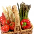 Stock Photo: Fresh vegetables in a basket