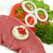 Stock Photo: Rump steak with herbed butter