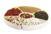 Colorful mix of dried legumes — Stock Photo