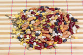 Mixed dried beans — Stockfoto
