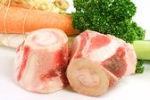 Cattle Bones with vegetable — Stock Photo