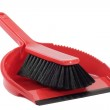 Dust pan with sweeper — Stock Photo #5117325