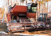 Old broken-down combine — Stock Photo