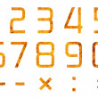 Set of digits and operations of arithmetic — Stock Photo #4337229