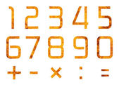Set of digits and operations of arithmetic — Stock Photo