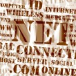 Concept of net and web – word cloud — Stock Photo #4928966