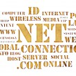 Concept of net and web – word cloud — Stock Photo