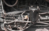 Old tractor engine interior — Stock Photo