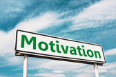 Motivation road sign — Foto Stock