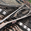 Railroad junction — Stock Photo