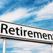 Retirement road sign — Foto Stock