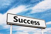 Cartello stradale di successo — Foto Stock