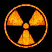 Radiation – round sign — Stock Photo