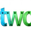 Lettering Network in blue and green tones — Stock Photo