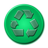 Recycling symbol in green tones — 图库照片