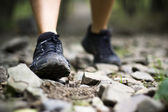 Trail walking in forest — Stock Photo