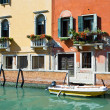 Venice apartment buildings — Stock Photo