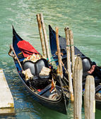 Luxury gondola in Venice — Stock Photo