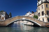 Canal and bridge in Venice — Stock Photo