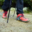Nordic Walking legs — Stock Photo