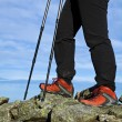 Nordic Walking legs — Stock Photo #4207158