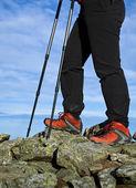Nordic Walking legs — Stock Photo