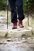 Nordic Walking and hiking boots — Stock Photo