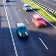 Cars on the road, motion blur — Foto de Stock