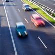 Cars on the road, motion blur — Stock Photo