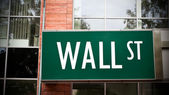 Wall Street Sign, business symbol — Stock Photo