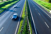 On the road, motion blur — Stock Photo