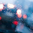 Driving in rain and traffic jam — Stock Photo #5271267