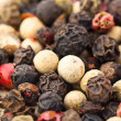 Macro spices: mix of different peppers balls — Stock Photo #4001923