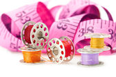 Colored bobbins — Stock Photo