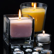 Decoration with candles — Stock Photo