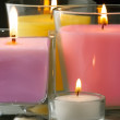 Decoration with burning candles — Stock Photo #4108968