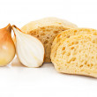 Stock Photo: Wheat bread with onion