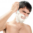 Stock Photo: Hate to shave
