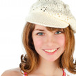 Young girl in cap — Stock Photo