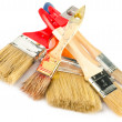 图库照片: Set of paintbrushes for home renovation
