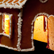 Christmas gingernut house — Stock Photo
