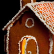 Stock Photo: Christmas gingernut house
