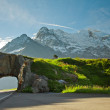 Road tunnel and mountains - Stock Photo