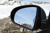 Left rear view mirror — Stock Photo