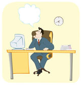 Dreaming office worker — Stock Vector